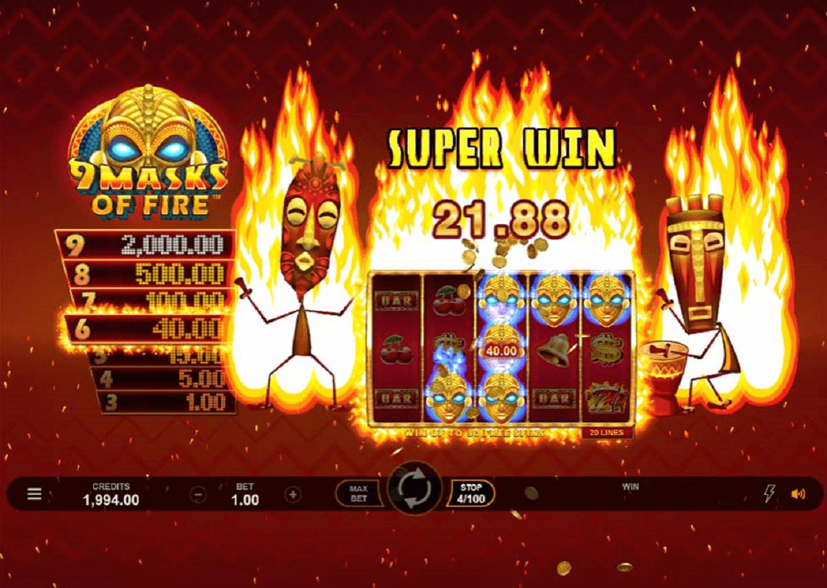 9 masks of fire casino